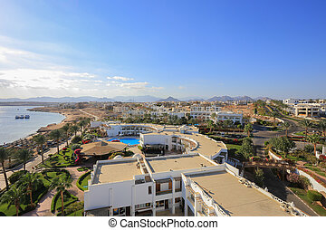 Sharm el Sheikh resort aerial view, Egypt
