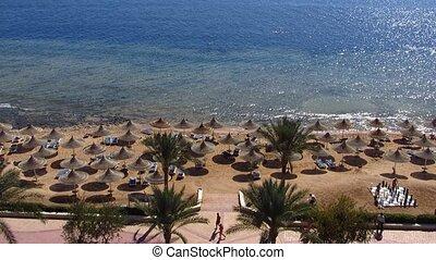 Sharm el Sheikh resort - The beach in the resort of Sharm...