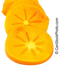 Sharon fruit or persimmon slices
