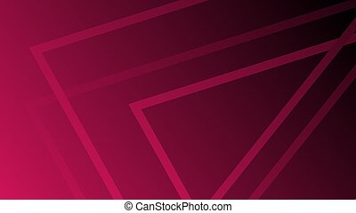 Sharp abstract lines in the shape of a triangle on a dark pink background