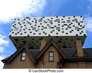 Sharp Centre - The Sharp Centre for Design looms over an...