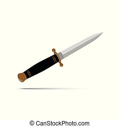 sharp dagger knife isolated
