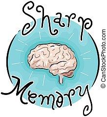 Sharp Memory Icon Illustration