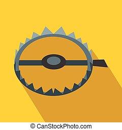 Sharp metal trap flat icon
