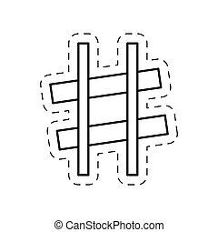 sharp music note cut line vector illustraiton eps 10