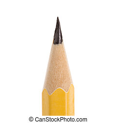 Close up of sharp pencil point.