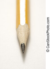 Sharp pencil tip.
