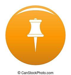 Sharp pin icon orange