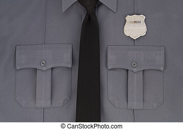 Sharp Police Uniform - A clean shot of a police shirt, tie...