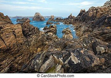 Sharp rocky coastline