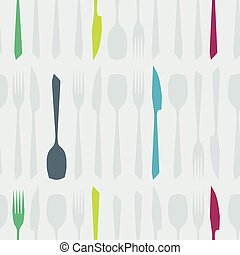 Sharp shaped cutlery background
