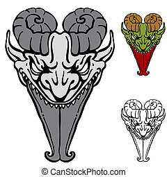 Sharp Tongue Demon - An image of a demon face with a sharp...