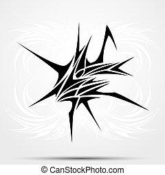 Sharp tribal tattoo