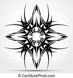 Sharp tribal tattoo
