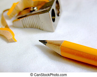 sharpened pencil with out of focus background