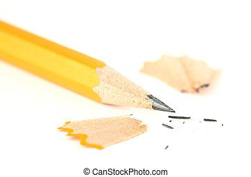 Sharpened pencil closeup