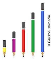 sharpened pencils illustration