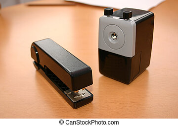 sharpener and staple