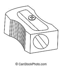 sharpener pencil outline. Isolated stock vector illustration