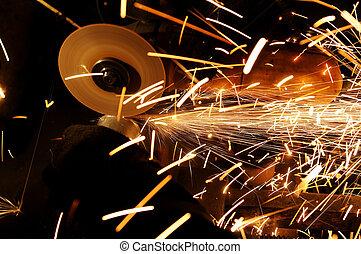 Sharpening and cutting metal