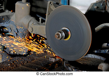 abrasive disk machine - sharpening and cutting of iron by ...