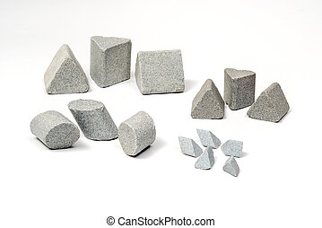 Sharpening stones sets in different shapes