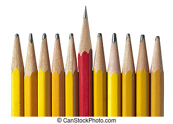 Sharpest Pencil in the Bunch: metaphor for leadership, intelligence, & individuality to teamwork and unity.