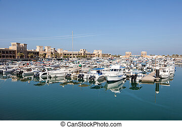 Sharq Marina in Kuwait City, Middle East