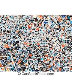 Shattered background