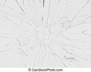 Shattered glass: broken heart shape