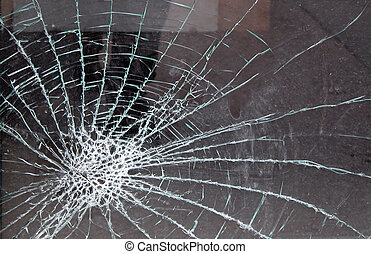 Shattered Glass - shattered glass window