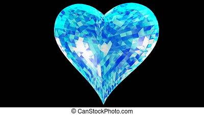 Shattered heart and falling 3d illustration render