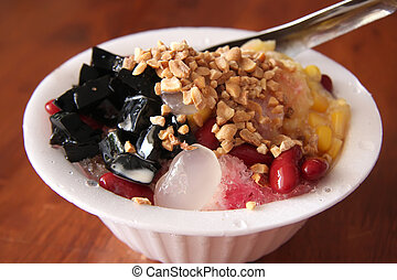 Shaved ice dessert - Traditional asian dessert of shaved ice