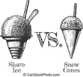 Shaved Snow and shaved Ice - Shave ice vs. Snow Cones....