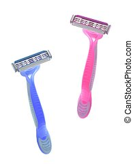 Shaver - A disposable shaver isolated against a white ...
