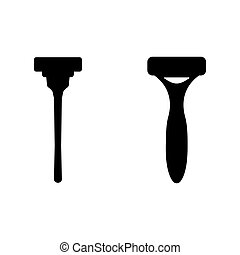 Shaver flat icon on white background. Vector illustration.