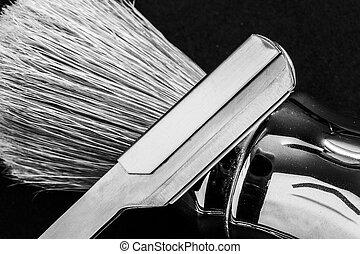shaver on shaving brush