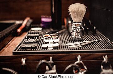 tools of barber shop