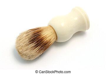 A shaving brush on white background.