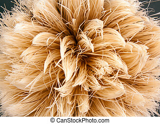 A close up of the bristles of a shaving brush.