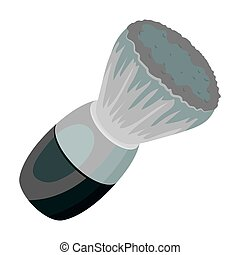 Shaving brush. Barbershop single icon in monochrome style vector symbol stock illustration web.