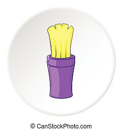 Shaving brush icon, cartoon style