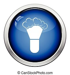 Shaving brush icon