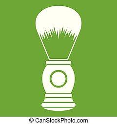 Shaving brush icon green