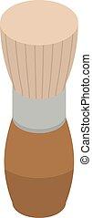 Shaving brush icon, isometric style