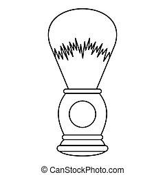 Shaving brush icon, outline style