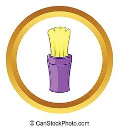 Shaving brush vector icon