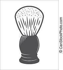 Shaving brush vector