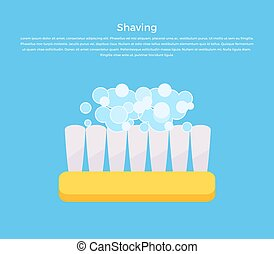 Shaving Concept Banner Vector Illustration.