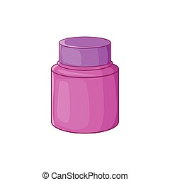 Shaving cream icon, cartoon style